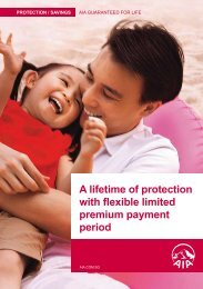 A lifetime of protection with flexible limited premium ... - AIA Singapore