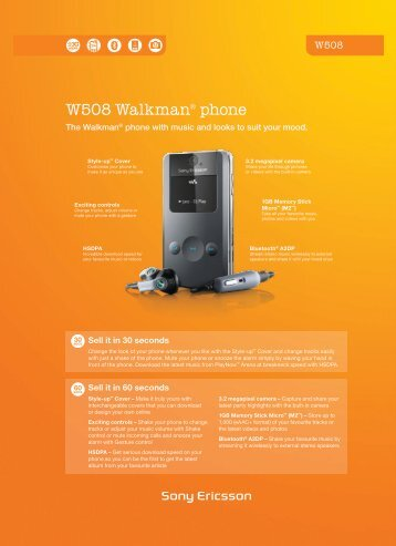 W508 Walkman® phone