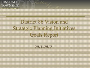 1st Quarter Goals Report 2011-12 - Hinsdale Township High School ...