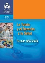 La Tutela y el Derecho a la Salud - Defensoría del Pueblo
