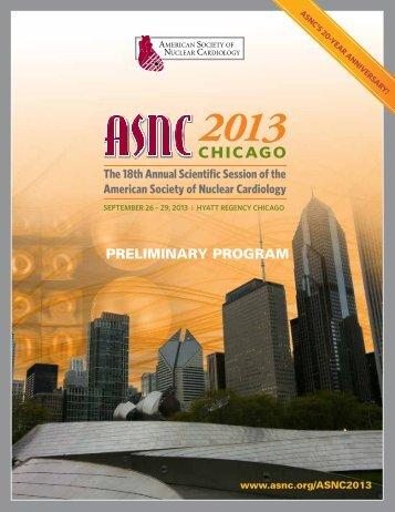 ASNC2013 Preliminary Program - American Society of Nuclear ...