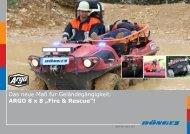 """Das neue Maß für Geländegängigkeit: ARGO 8x8 """"Fire & Rescue""""!"""
