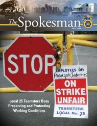 Local 25 Teamsters Busy Preserving and Protecting Working ...
