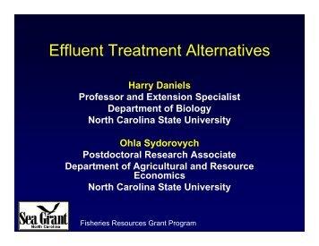 Aquaculture Effluent Management and Treatment Technologies ...