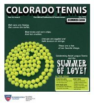 SUMMER 2009 - the Colorado Tennis Association