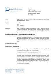 Päätös Nro 116/2012/1 Dnro LSSAVI/388/04.08/2010 Annettu ...