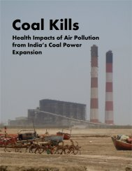 Coal Kills-Health Impacts of Air Pollution from India's Coal Power Expansion