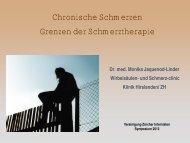 Grenzen der Schmerztherapie - Vereinigung Zuercher Internisten