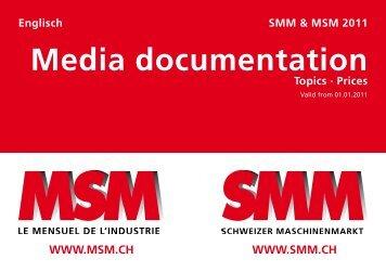 Media documentation - Schweizer MaschinenMarkt