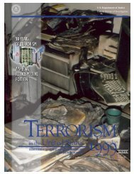 TERRORISM in the United States 1999 - FBI