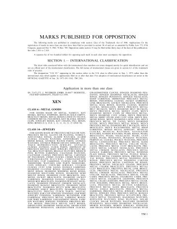 09 March 2004 - U.S. Patent and Trademark Office
