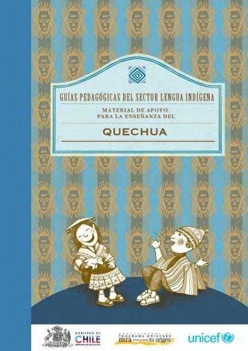 la enseñanza del Quechua.
