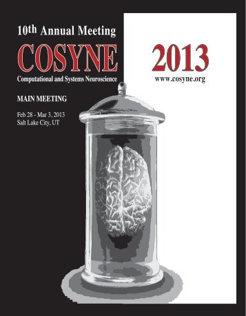 COSYNE 2013 Program book