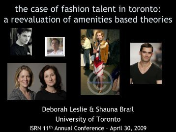 the case of fashion talent in toronto: a ... - University of Toronto