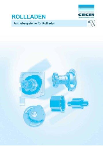 Antriebssysteme für Rollladen - Geiger Antriebstechnik