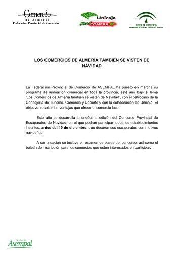 LOS COMERCIOS DE ALMERÍA TAMBIÉN SE VISTEN ... - Asempal