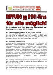 Nachstehend eine Info über die Möglichkeit zur Impfung gegen den ...