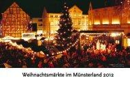 Weihnachtsmärkte im Münsterland 2012 - Weihnachtsmarkt.info