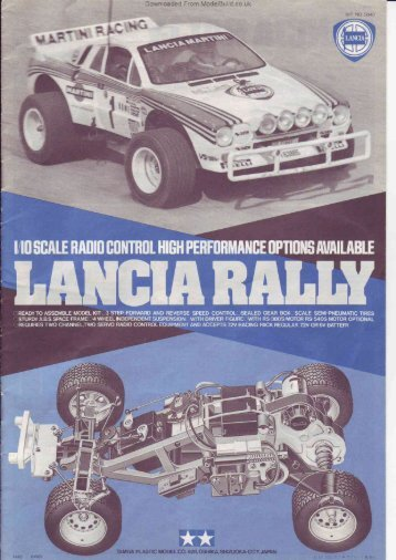 Tamiya Lancia Rally Manual - CompetitionX.com