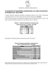 Le prestazioni di specialistica ambulatoriale con codice di ...