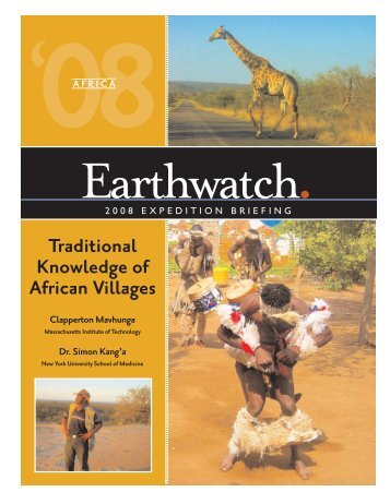 Traditional Knowledge of African Villages - Earthwatch Institute