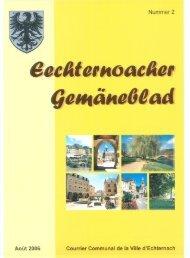 Courrier communal août 2006 - Echternach