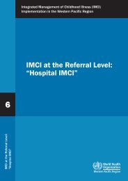 Hospital IMCI - WHO Western Pacific Region - World Health ...