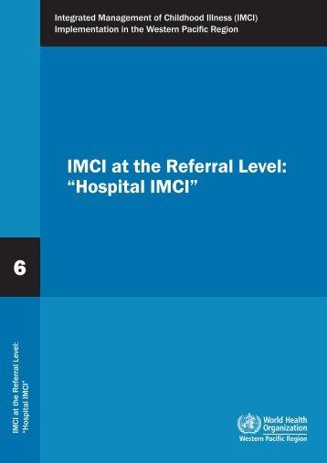 Hospital IMCI - WHO Western Pacific Region - World Health ...