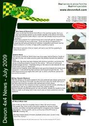 Devon 4x4 News - July 2009 - 4x4 Offroad Adventure Club