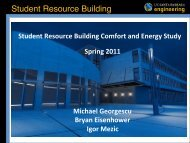Energy Visualization study at the Student Resource Building by ...