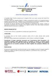 FIDAL - Regolamento G.P. Giovanile - ASD Atletica Rotaliana