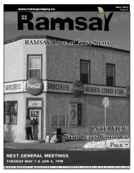 May newsletter - Ramsay Community Association in Calgary