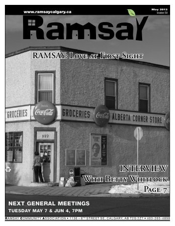 May newsletter - Ramsay Community Association in Calgary