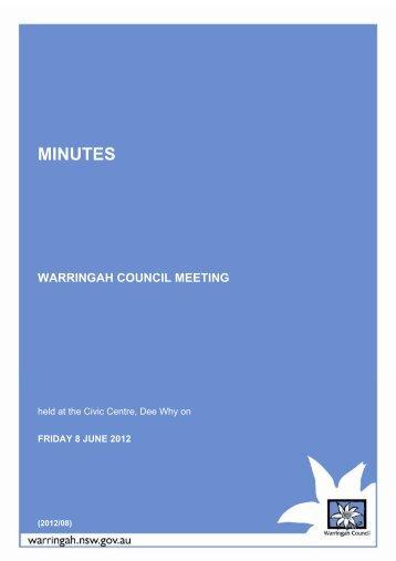 8 June 2012 - Warringah Council - NSW Government