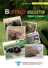 Buffalo Bulletin Vol.31 No.1 - International Buffalo Information Centre