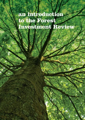 an introduction to the Forest Investment Review - Forum for the Future