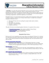 Biographical Information Library Resource Guide - The University of ...