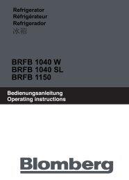 BRFB 1040 W BRFB 1040 SL BRFB 1150 - Datatail
