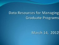 To better manage your program - The Graduate College at Illinois