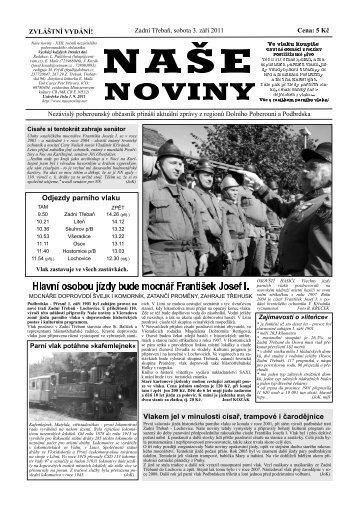 Vlak - naše noviny archiv