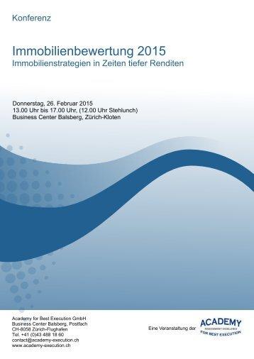 Konferenz Immobilienbewertung 2015