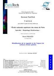 Doctorat ParisTech T H`ESE l'École nationale supérieure des mines ...