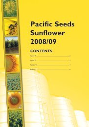 Pacific Seeds Sunflower 2008/09 CONTENTS - Directrouter.com