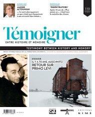 Revue : Témoigner entre histoire et mémoire - n° 119 (décembre 2014) : Dossier : Il y a 70 ans, Auschwitz. Retour sur Primo Levi