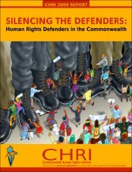 Silencing the Defenders - Commonwealth Human Rights Initiative