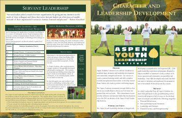CHARACTER AND LEADERSHIP DEVELOPMENT - Aspen Academy