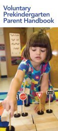 VPK Parent Handbook - Florida Office of Early Learning