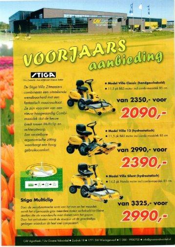 De Stiga Villa Zitmoaiers - Uw groene vakwinkel