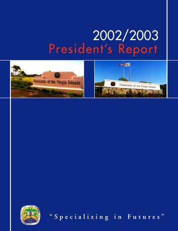 President's Report 2002-2003 - University of the Virgin Islands