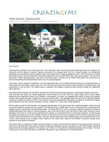 Villa Orient, Dubrovnik - Croatia Gems